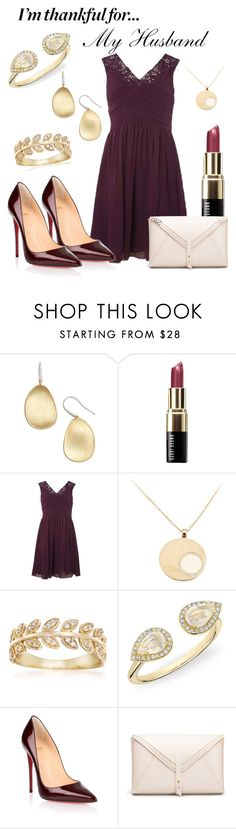 """""""Ever Thankful"""" by csidlo17 ❤ liked on Polyvore featuring Marco Bicego, Bobbi Brown Cosmetics, Dorothy Perkins, Ross-Simons, Anne Sisteron, Christian Louboutin and imthankfulfor"""