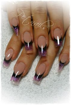 Pet nails gradient french nail design