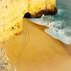 beach, landscape, nature, rock, sand