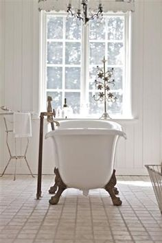 Vintage bathroom, getrommeld marmer