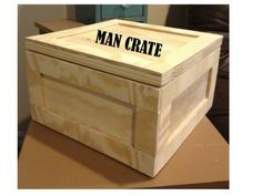 """DIY Plywood Gift Crate .... from Ana White.  I would have loved a gift """"wrapped"""" like this.  And it's a storage box for later."""