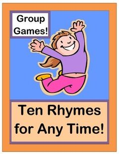These TEN RHYMES and GROUP GAMES will get you through a busy 'kid day' at school or at home!  Good Morning Time, Clean-Up Time, Snack Time, Friendship Time, Transition Time, and even 'Wiggle Time' are all represented!  Use Rhythm and Rhyme to focus your kids and get them from 'Point A' to 'Point B'.  Some of my favorite CLASSROOM MANAGEMENT TOOLS are found here!  (11 pages)  From Joyful Noises Express TpT!  $