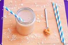 Peanut Butter Banana Smoothie from Chocolate Covered Katie