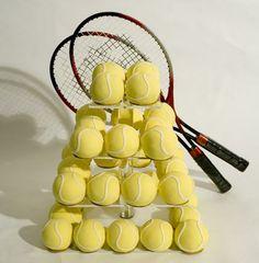 Mini Tennis Balls Cakes On Square Classikool Maypole Cake Stand  more at Recipins.com