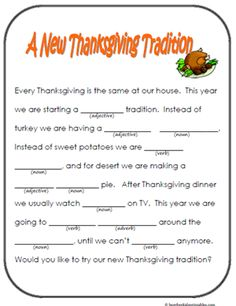 37 best images about mad libs on thanksgiving