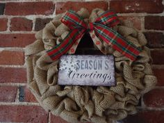 Christmas Wreath  Holiday Wreath  Winter by adorableaDOORnments
