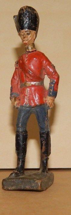 Antike Masse Figur 10,5 cm Elastolin Dänischer Offizier WK 1 WW 1 | eBay