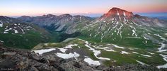 Wetterhorn/Uncompahgre Loop: 'Uncompahgre Sunset Panorama' - Uncompahgre Peak, Uncompahgre Wilderness, San Juan Mountains near Ouray, Colorado, USA. -- Photo © copyright by Jack Brauer, Mountain Photographer