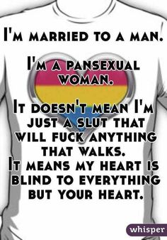 I'm Married To A Man I'm a Pansexual Woman LGBT Pride Whisper