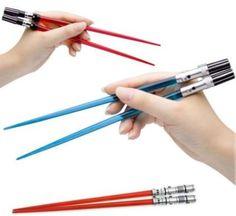 light saber chopsticks!