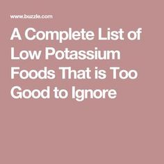 A diet that includes low potassium foods, is an important part of the treatment process for people having high potassium levels; a condition called hyperkalemia. This article gives you a printable list of all such foods. Low Potassium Recipes, High Potassium, Diet Tips, Diet Recipes, Renal Diet, Kidney Health, Food Lists, Remedies, Cooking