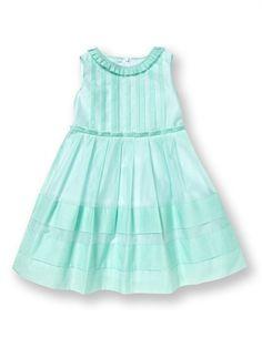 Simonetta Pleated Seagreen Dress $213
