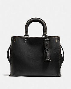 5a83797d02 Coach Duffle Shoulder Bag In Glovetanned Pebble Leather BLACK COPPER ...