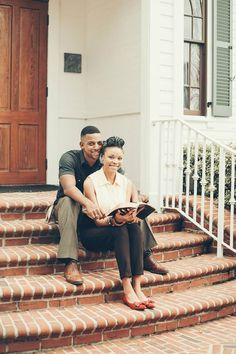Vintage, Christian Engagement Photos African American Vintage Engagement Photos Koontz Photography (c) Christian Engagement Photos, Vintage Engagement Photos, Engagement Pictures, Black Love Couples, Cute Couples, Beautiful Couple, Black Is Beautiful, Couple Photography, Engagement Photography
