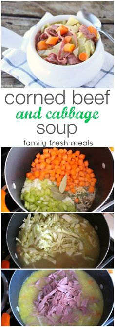 Corned Beef and Cabbage Soup - The perfect way to use any leftover St. Patrick's Day corned beef leftovers.