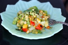 Three Kitcheneers: Grilled Summer Chopped Salad with Chipotle-Lime Vinaigrette