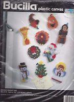 New Bucilla Plastic Canvas Turkey Napkin Rings Kit # 6115