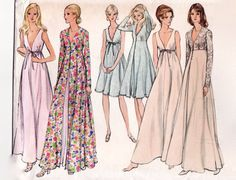 Vintage 1970s Sewing Pattern  Peignoir Lingerie by FriskyScissors, $10.00
