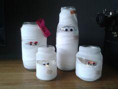 Halloween DIY l Knutsel samen met de kids lieve Halloween mummie's