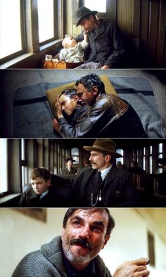 Daniel Plainview's progression...or regression. There Will Be Blood, 2007 (dir. Paul Thomas Anderson)