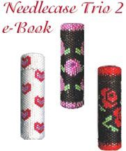 Needlecase Trio 2 e-Book Beading Pattern by Suzanne Cooper  - Item Number 13706 at Bead-Patterns.com