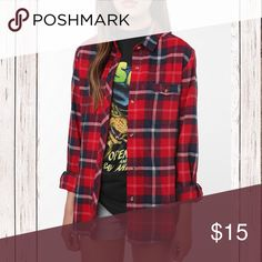 BDG Boyfriend Fit Flannel UO From Urban Outfitters. 100% Cotton. Comfy and casual. Rounded Hems. Great preloved condition. Size M. Long sleeves. Buttoned front. Urban Outfitters Tops Button Down Shirts