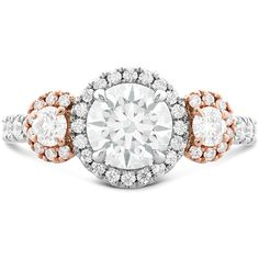 Integrity HOF Three Stone Engagement Ring! Simply stunning! Stop in to view our amazing selection of Hearts on Fire Jewelry! #BradleyGough #FortWayne #Indiana www.bradleygoughdiamonds.com