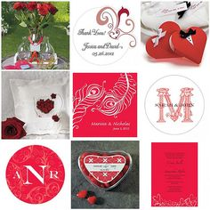 Traditional Valentine's Day colors of red and white
