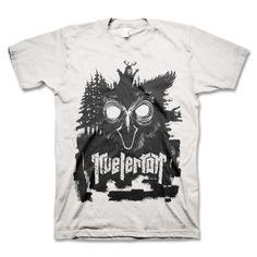 Kvelertak - Owl Face - (black print/white tee)