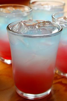 Red White and Blue 4th of July Layered Beverage