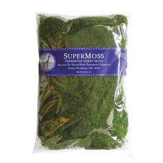 Preserved Sheet Moss in Fresh Green - Approximately 16 oz. per Bag $17.99 per/bag