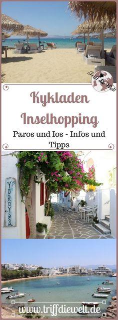 Beim Griechenland Inselhopping wählen viele die Inselgruppe der Kykladen aus. Wer sich die Inseln Paros und Ios beim Kykladen Inselhopping einmal genauer ansehen will, findet hier nützliche Informationen.