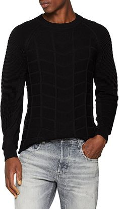 Schön.  Bekleidung, Herren, Pullover & Strickjacken, Pullover G Star Raw, Star Wars, Men Sweater, Stars, Knitting, Sweaters, Black, Fashion, Sweater Cardigan