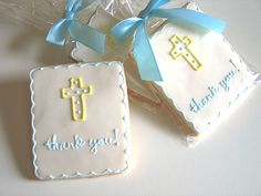 Religious Thank You Cookies, Baby Cookies, Christening Favors by Rolling Pin Productions Thank You Cookies, Baby Cookies, Baby Shower Cookies, Easter Cookies, Cupcake Cookies, Christening Cookies, Christening Favors, Baby Christening, Baby Girl Baptism