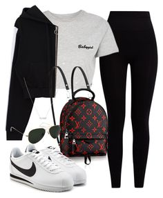 """""""Sin título #3107"""" by camilae97 ❤ liked on Polyvore featuring Pepper & Mayne, Topshop, NIKE and Ray-Ban"""