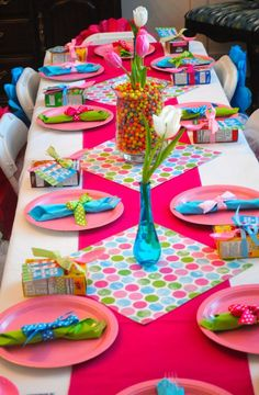 What a great idea for a kids birthday party - a pyjama and pancakes party! Invite people for breakfast instead of lunch or afternoon tea!