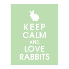 Keep Calm and LOVE RABBITS 11x14 Print Color by KeepCalmShop, $14.95