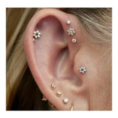 Helix piercing Jewelry information, tips and jewellery information ❤ liked on Polyvore featuring jewelry