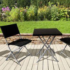 salon de jardin melbourne atlanta noir 1 table pliable 2 - Salon De Jardin Pliable