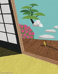Ryo Takemasa, Engawa. Cover illustration for Majesty Express magazine, May 2013 issue.
