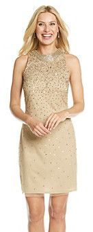 Cachet® Necklace Dress With Sequin Overlay on shopstyle.com