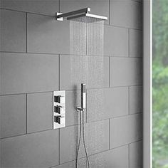 Could work well as a cheap outdoor shower. Parts (ie head, hose, thermo tap) are separate and so can be replaced individually. Milan Triple Thermostatic Shower Package with Head & Handset from Victorian Plumbing Contemporary Bathrooms, Modern Bathroom, Small Bathroom, Master Bathroom, Bathroom Ideas, Small Shower Room, Shower Rooms, Minimal Bathroom, Boho Bathroom