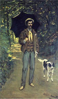 ღღ Victor Jacquemont Holding a Parasol, Artist:  Claude Monet - Completion Date: 1865,  Style: Impressionism