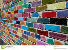 Mur De Briques Peint - Télécharger parmi plus de 42 Millions des photos, d'images, des vecteurs et . Inscrivez-vous GRATUITEMENT aujourd'hui. Image: 17041686