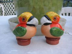 Fantastical Bird Salt And Pepper Shakers. Items similar to Vintage Cute Toucan Shakers Made in Japan Salt and Pepper  on Etsy Pre World War II fantasy Birds salt pepper shakers