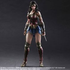 "wnderwman07: "" Batman v Superman: Dawn of Justice – Wonder Woman Play Arts Kai…"