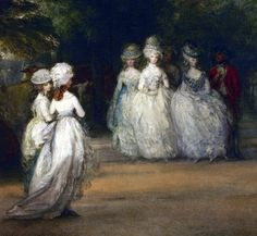 The Mall in St. James's park by Thomas Gainsborough, 1783 Thomas Gainsborough, Jean Rostand, Italian Renaissance Art, 18th Century Clothing, Portrait Art, Pretty Pictures, Love Art, Mall, History