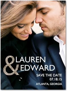 Enchanted Embrace Save the Date from Wedding Paper Divas