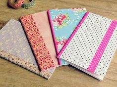 easy diy: custom a notebook with paper and washi tape