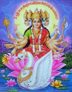hindu goddess gaayatri devi mantra
